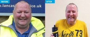 Andrew Noble before and after his journey