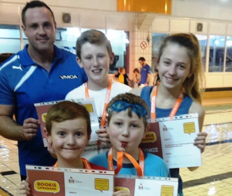 YMCA St Annes Pool Rookies receive certificates